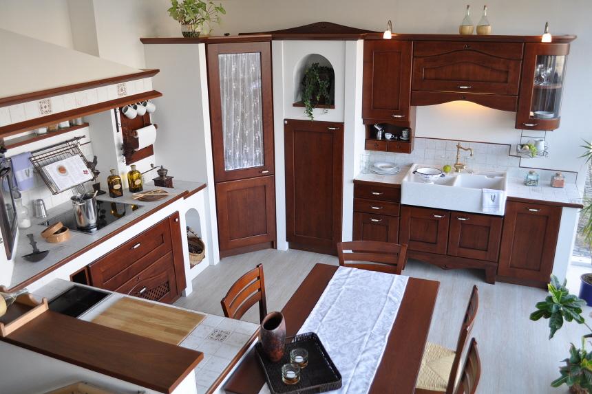 die nostalgische k che der extraklasse als mauerk che. Black Bedroom Furniture Sets. Home Design Ideas